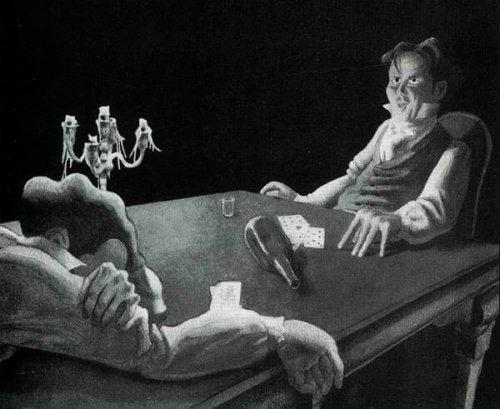 Dwóch mężczyzn przy stole