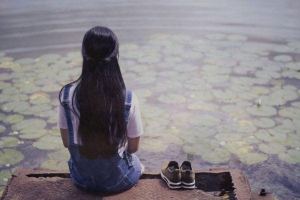 dziewczyna na molo