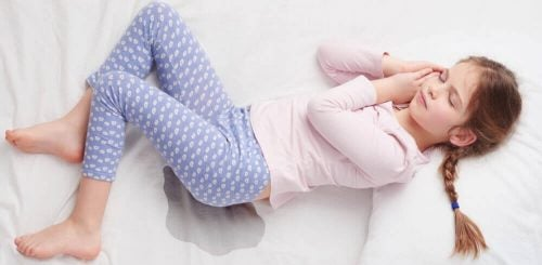 Dziewczynka zmoczyła łóżko