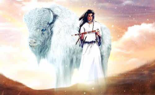 Kobieta biały bawół - indiańska legenda