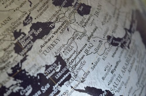 Mapa bliski wschód
