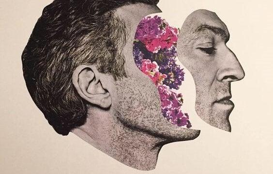 odłączona twarz mężczyzny