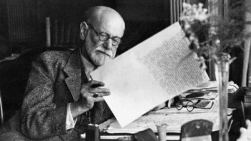 Zygmunt Freud przy pracy