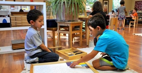 Dzieci w przedszkolu.