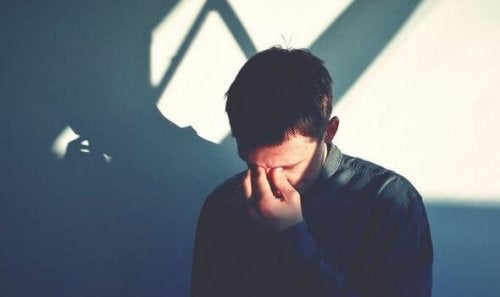 Mężczyzna z depresją.
