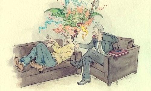 psychiatra z pacjentem