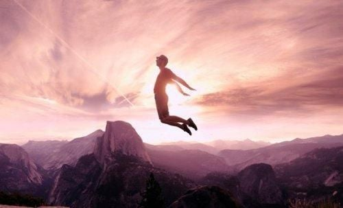 Człowiek skacze