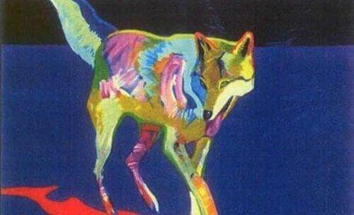 Kolorowy wilk