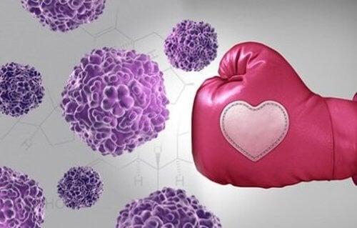 Rak piersi - komórki pobite.