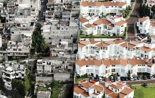 Biedne i bogate sąsiedztwo nierówność