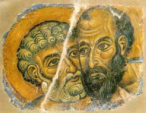 Dwóch mężczyzn adelphopoiesis