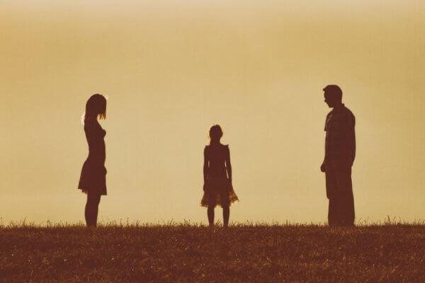 Dziewczynka i rodzice