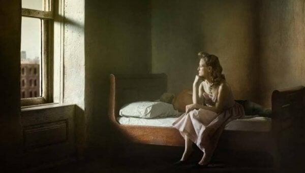Edward Hopper obraz Patrzenie przez okno