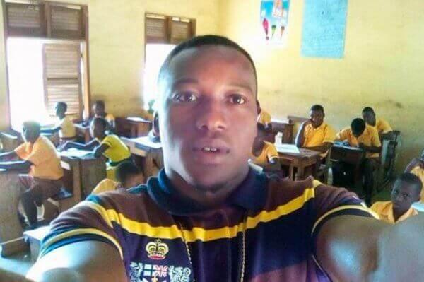 Ghański nauczyciel w klasie