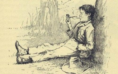 Ilustracja huckleberry finn