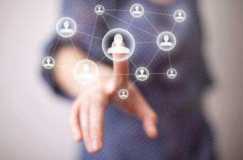 internet i połączeni ludzie