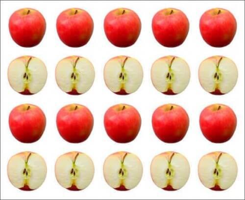 Jabłka przykład gestalt