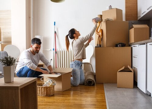 Nowe mieszkanie pary