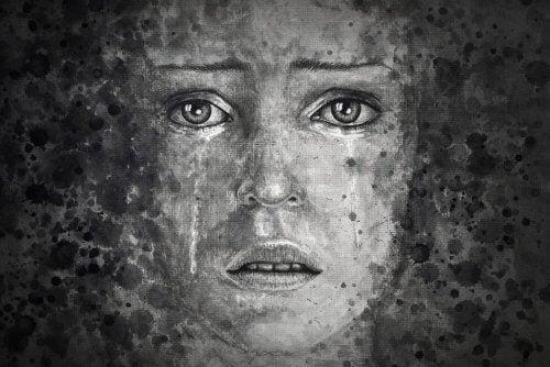 portret smutnej kobiety