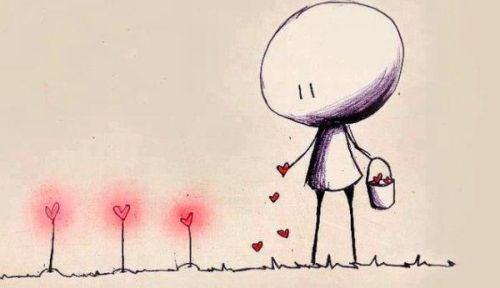 Sadzenie nasion w kształcie serca