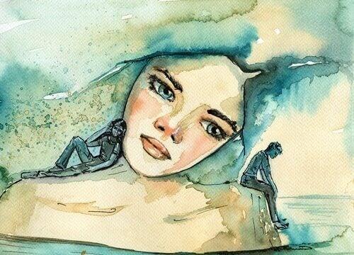 Dziewczyna snuje wspomnienia - to trudne emocje