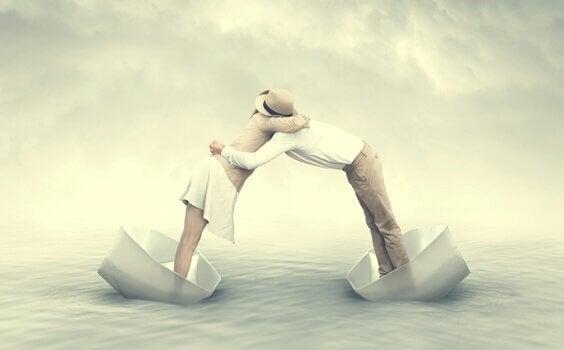 Para na łódkach - osobowość kameleona