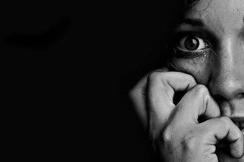 Przestraszona osoba