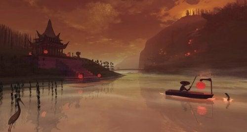 Rzeka - orientalny obraz