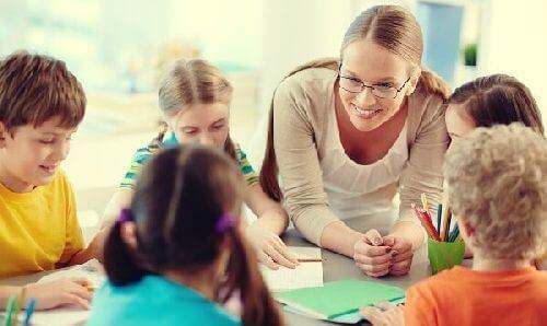 Z-nauczycielką w klasie
