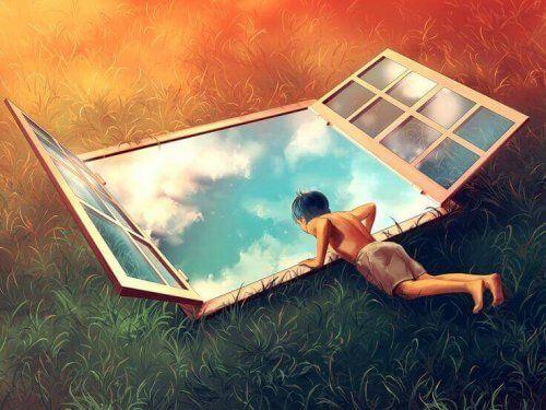 Burzliwa młodość - człowiek leży nad oknem