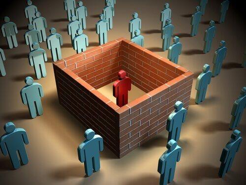 Osoba odizolowana  od innych