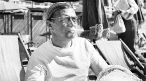 Sartre w trakcie wypoczynku