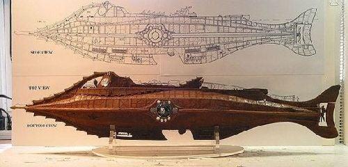 Schemat i makieta Nautilusa