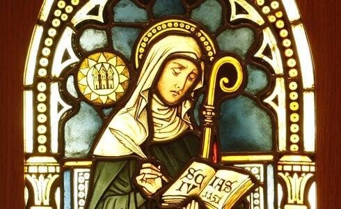 Hildegarda z Bingen - witraż
