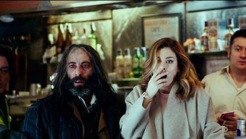 Film Bar - zdziwione postacie
