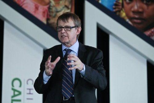 Hans Rosling w trakcie przemowy