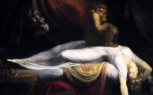 Malowidło przedstawiające inkuba i śpiącą kobietę