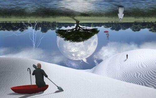 Surrealistyczny krajobraz