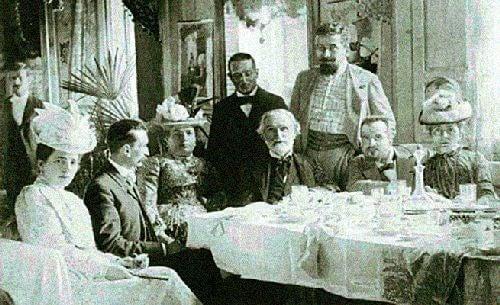 Giuseppe Verdi przy stole