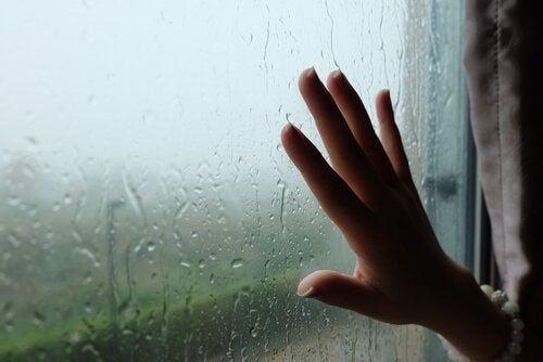 Szyba i deszcz