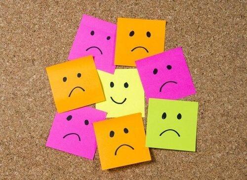 Wiele różnych emocji