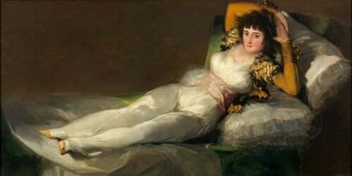 Goya - obraz kobiety na leżance