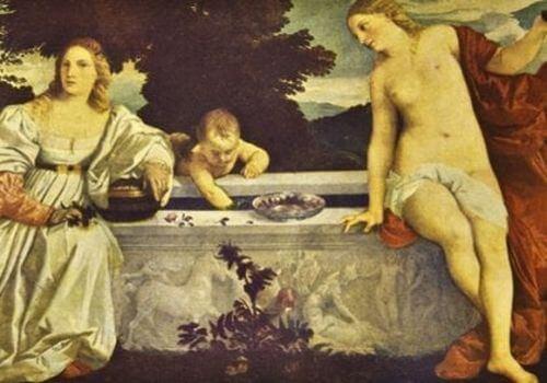 """Tycjan - obraz """"Miłość niebiańska i miłość ziemska"""""""