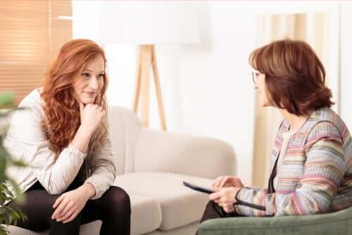 Psycholog podczas terapii