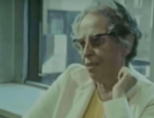 Johanna Arendt w późniejszych latach życia