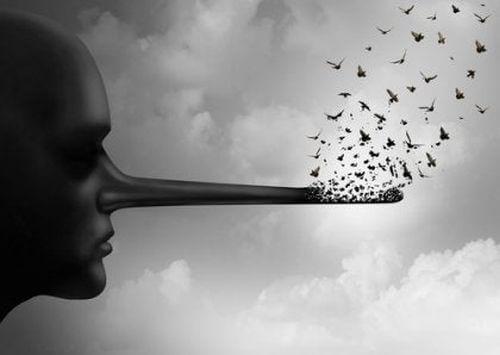 Kłamstwa symbolizowane przez długi nos