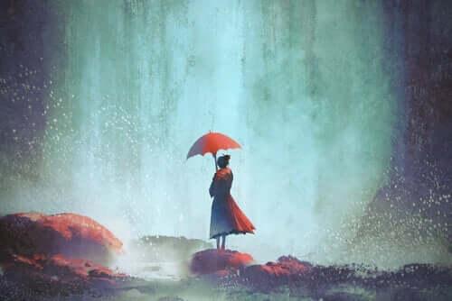 Kobieta z parasolem - nasze doświadczenia