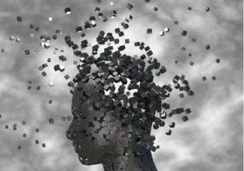 Umysł ludzki rozpadający sie na kawałki