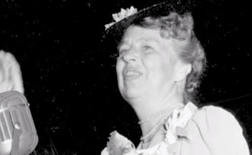 Eleanor Roosevelt przemawia publicznie