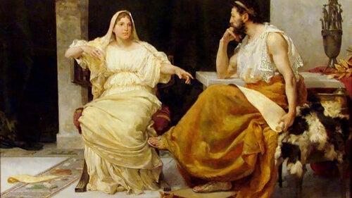 Aspazja z Miletu na obrazie